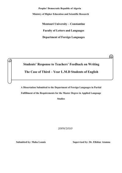 Students response to teachers feedback on writing the case of students response to teachers feedback on writing the case of expocarfo Image collections