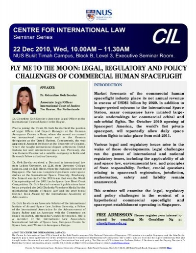 FLY ME TO THE MOON - Centre for International Law