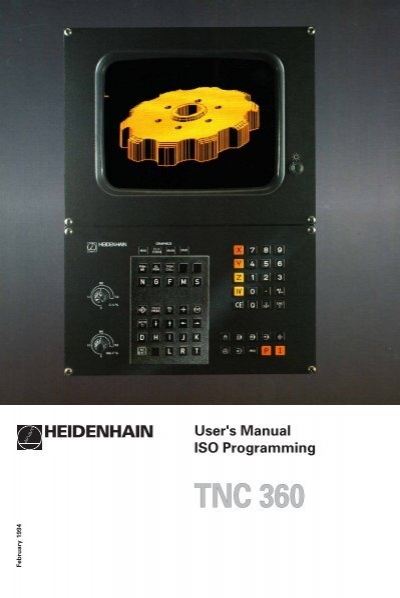 user manual iso programming 2500 b heidenhain rh yumpu com Heidenhain Encoder HEIDENHAIN Digital Readout