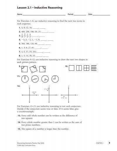 geometry inductive reasoning worksheets for high school geometry best free printable worksheets. Black Bedroom Furniture Sets. Home Design Ideas
