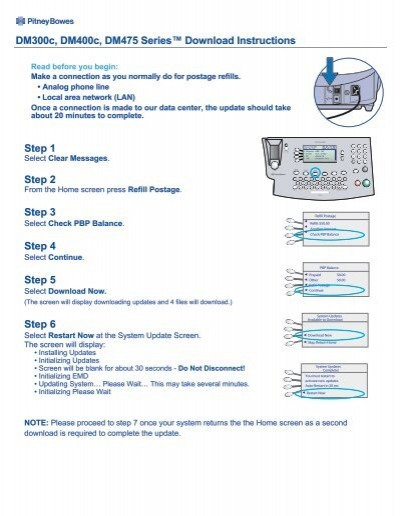 DM300c/DM400c(G910) Software Update - Pitney Bowes Canada