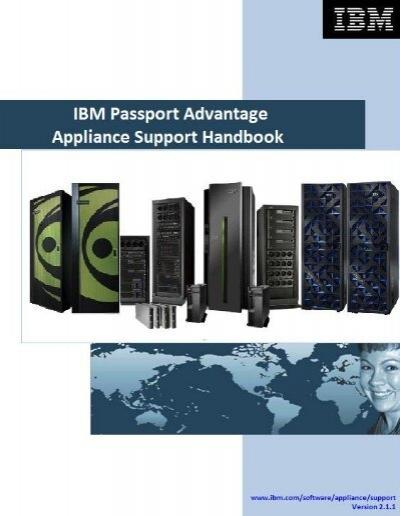 IBM Passport Advantage Appliance Support Handbook