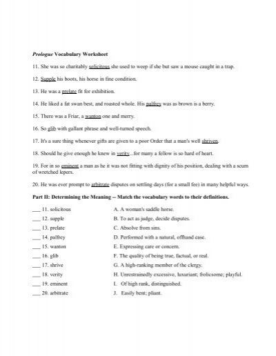 Pictures Canterbury Tales Prologue Worksheet - Studioxcess