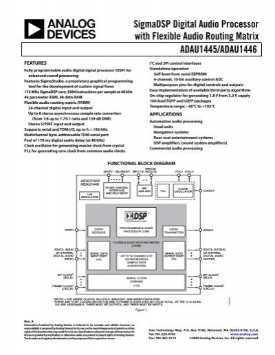 ADAU1445-46 - Analog Devices