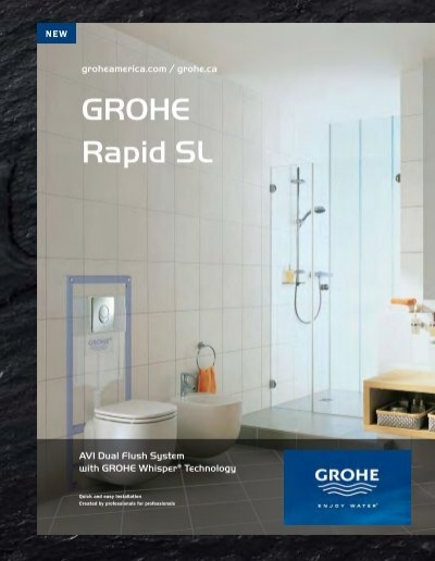 Grohe Skate AirWC Actuation Plate for Rapid SLwith 2 volume and start