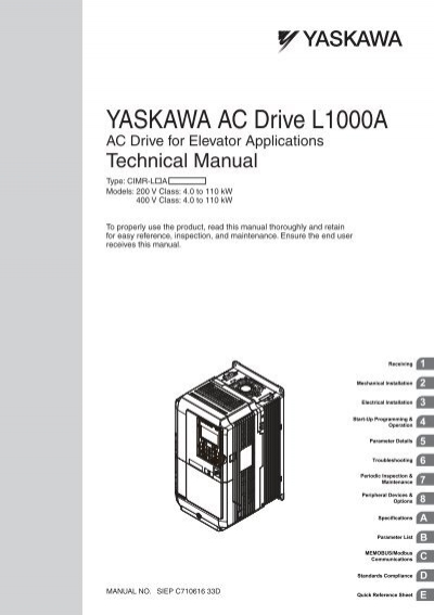 yaskawa v1000 wiring diagram  | edmiracle.co