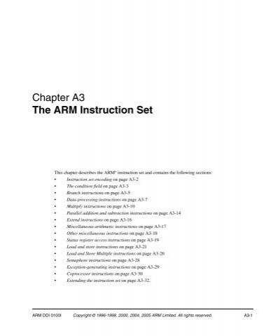 Chapter A3 The Arm Instruction Setpdf