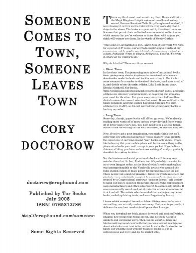 photo about You Ve Been Socked Printable known as A person Will come Toward Metropolis, Anyone - Cory Doctorow