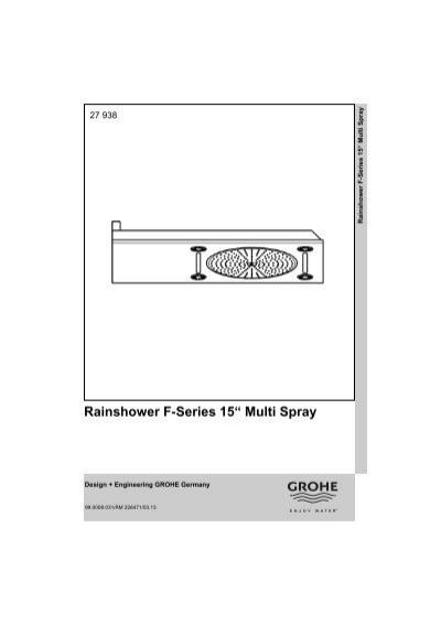 rainshower f series 15 multi spray. Black Bedroom Furniture Sets. Home Design Ideas