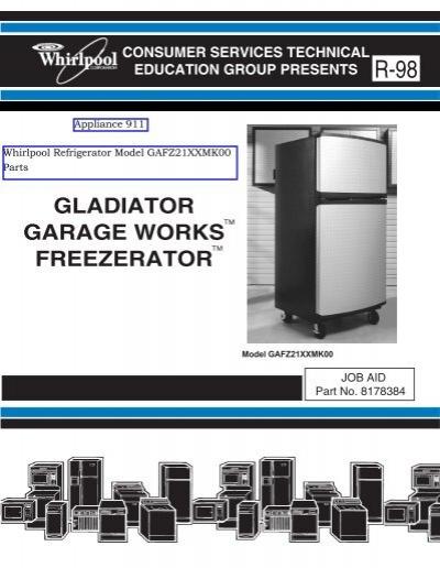 freezerator gaf z21xxmk00 gladiator series service manual rh yumpu com Refrigeration Compressor Wiring Diagram Electrical Schematic for Kenmore Refrigerator