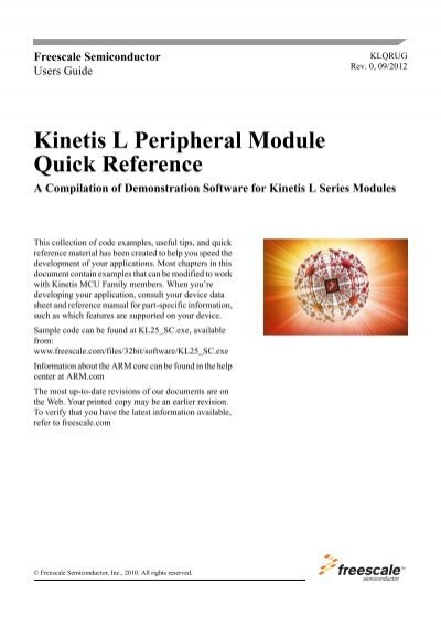 klqrug kinetis l peripheral module quick reference user guide rh yumpu com Quick Reference Guide Clip Art Quick Reference Guide Layout
