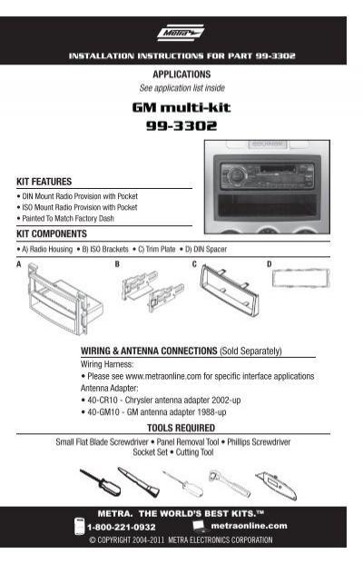 gm multi kit 99 3302 metra electronics