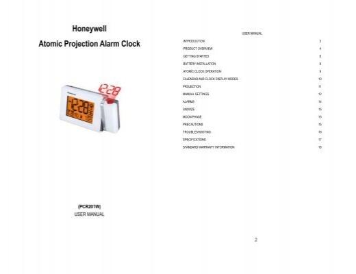 honeywell atomic projection alarm clock krippa com rh yumpu com honeywell atomic alarm clock manual Honeywell Atomic Clock Manual Rc182ws
