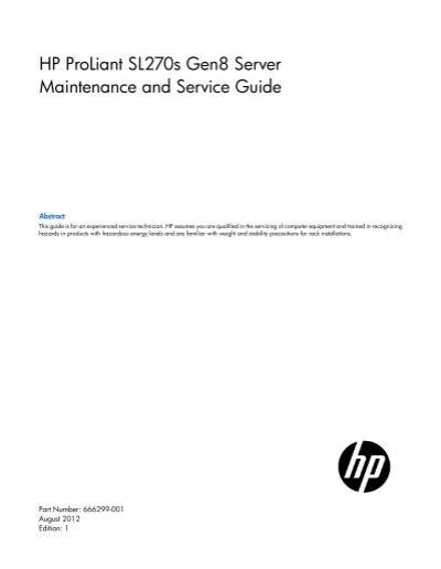 hp proliant sl270s gen8 server maintenance and service guide rh yumpu com maintenance & service guide hp eliteone 800 g1 all-in-one maintenance and service guide hp envy
