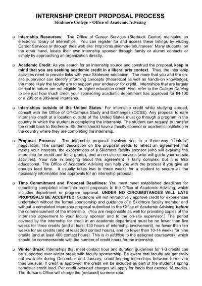internship for credit proposal form rev  11  12
