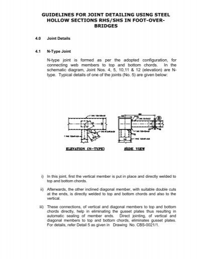 guidelines for joint detailing using steel hollow sections rhs ...