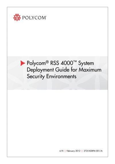 deployment guide for maximum security environments for polycom rh yumpu com Polycom CX5000 Manual Polycom 5000