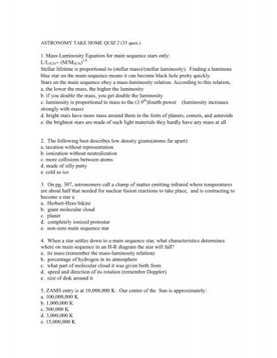 Astronomy free online document writing