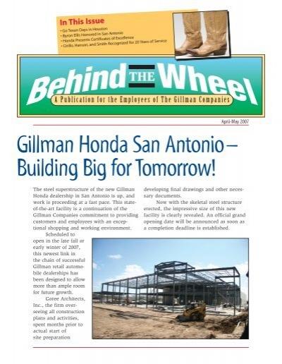 Gillman Honda San Antoniou2013 Building Big For Tomorrow!   Dealer