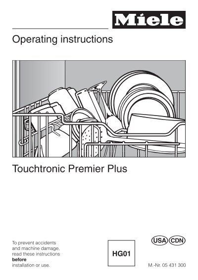 Miele touchtronic g 894 sc manuals.