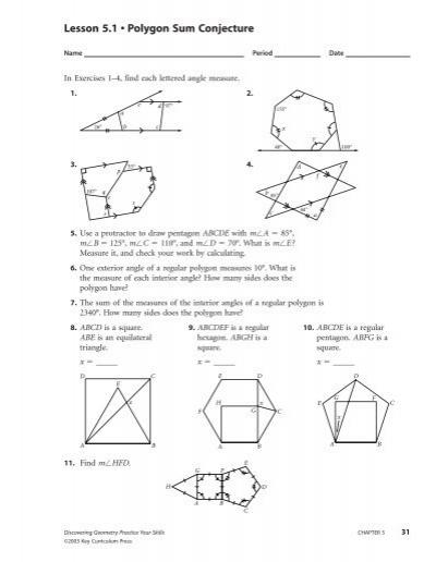 Lesson 5 1 Polygon Sum Conjecture