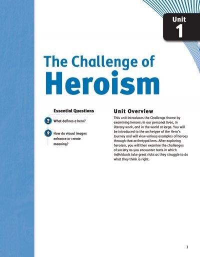 Springboard hero definition essay