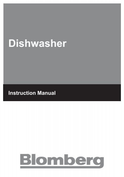 user manual blomberg rh yumpu com Blomberg Dishwasher Drying Blomberg Dishwasher Ratings