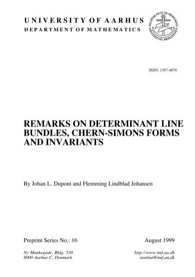 remarks on determinant line bundles, chern-simons forms and ...