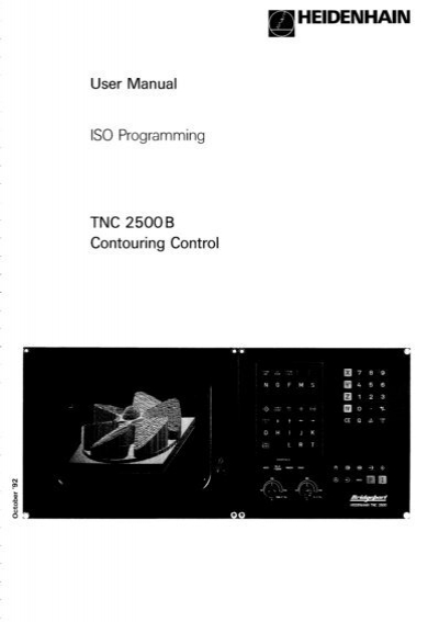 user manual iso programming 2500 b heidenhain rh yumpu com HEIDENHAIN Linear Scale HEIDENHAIN Linear Scale
