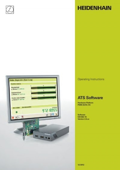 Pwm20 ik215 operating instructions ats software for Ats software