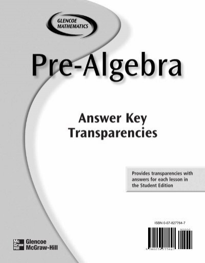 Answer Key Transparencies - MathnMind