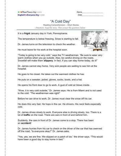 """A Cold Day"""" - English for Everyone"""