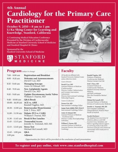 Cardiology for the Primary Care Practitioner - Stanford