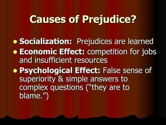 causes of prejudice and discrimination The victim physical and  exclusion or rejection directed to you by others for reasons that you often have no control of can cause extreme  discrimination isn.