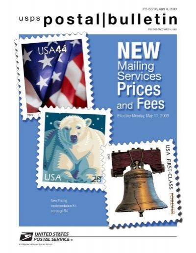 Postal Bulletin 22256 April 9 2009 Lake County