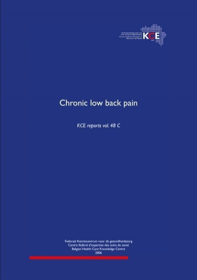 Chronic Low Back Pain Kce