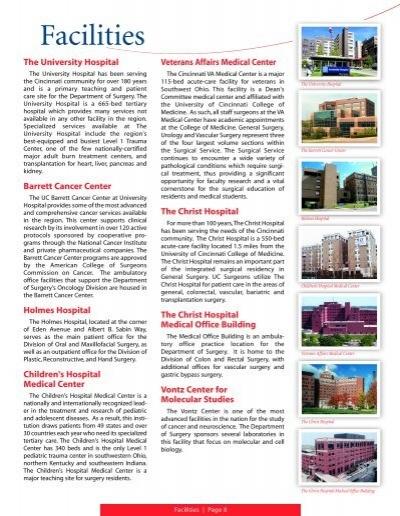 Facilities - Surgery - University of Cincinnati