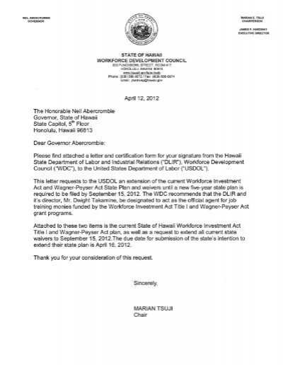 Read The State Plan Extension Request Letter
