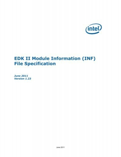 edk ii module information inf file specification rh yumpu com Edk Engineering Edk Kits
