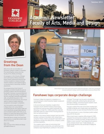 Academic Newsletter Faculty Of Arts Media And Design Fanshawe