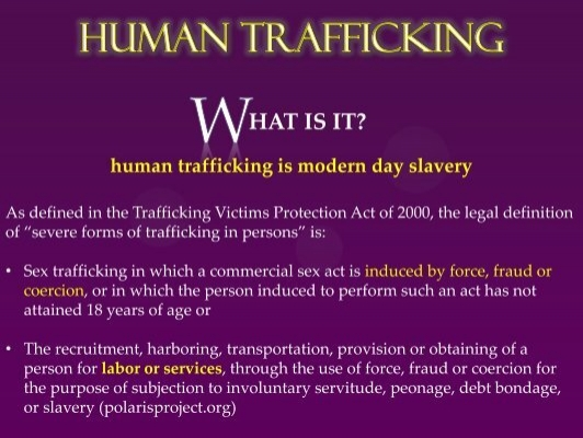 human trafficking is modern day slavery Victims of modern slavery polaris applauded the us senate i'm here to tell you that we can all join in the fight against human trafficking if we.