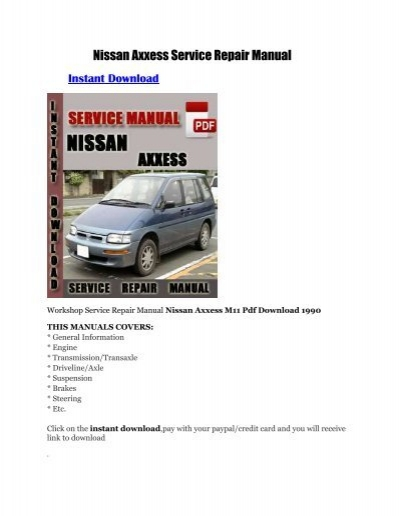 nissan axxess service repair manual rh yumpu com nissan axxess service manual Nissan Armada