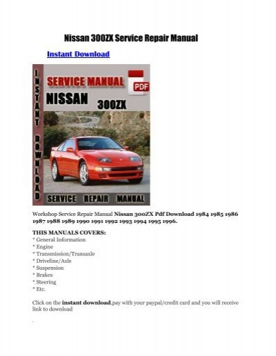 1986 nissan 300zx workshop manua array nissan 300zx service repair manual rh yumpu fandeluxe