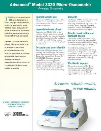 Osmometer 3320 service manual.