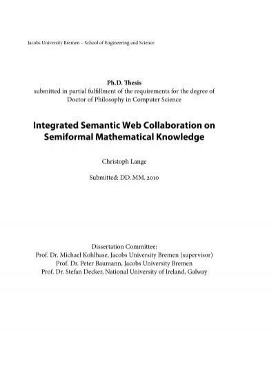 Integrated Semantic Web Collaboration On Semiformal