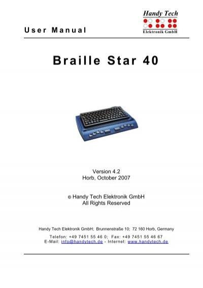 braille star 40 handy tech rh yumpu com