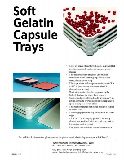 Soft Gelatin Capsule Drying Tray Brochure - Chemtech