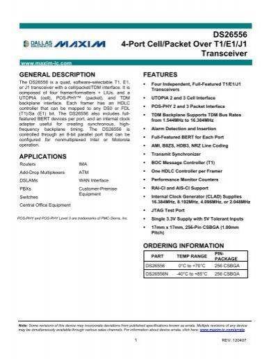 DALLAS DS26556 DRIVER FOR MAC