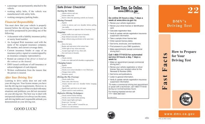 Fast Facts - California Department of Motor Vehicles