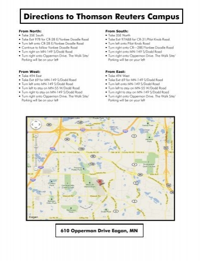 thomson reuters eagan campus map Thomson Reuters Map And Directions